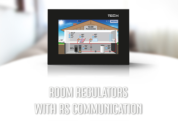 Room regulators with RS communication, wireless heating control - TECH Controllers - TECH Sterowniki