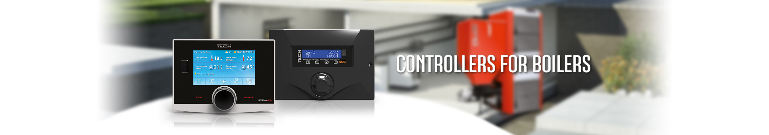 Controllers for boilers, boiler thermostat, central heating controls - TECH Controllers - TECH Sterowniki