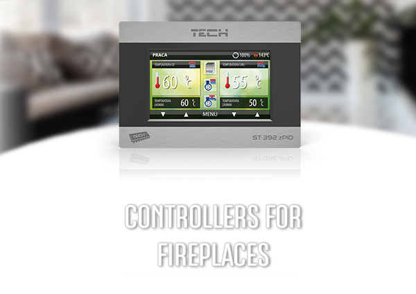 Controller for the fireplace - remote thermostat - TECH Sterowniki